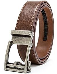 Gurscour ceintures pour hommes Ratchet coulissante ceinture en cuir  verrouillage automatique 35mm 1.4