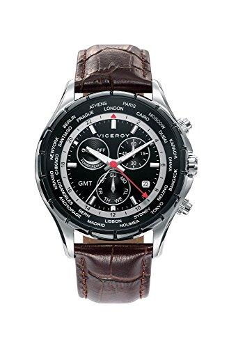 Viceroy Reloj Multiesfera para Hombre de Cuarzo con Correa en Cuero 401081-57