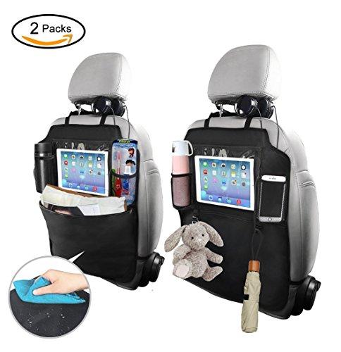 2 x Auto Rückenlehnenschutz,Trittschutz mit Rücksitz-Organizer,Rücksitzschoner