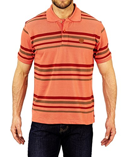 Winchester ready1Polo Short Sleeve Größe M Koralle/bordeaux/taupe