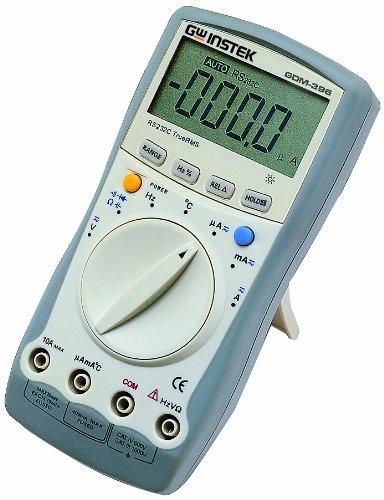 GW Instek GDM-461 Hand-Multimeter, digital, mit LCD, 22.000Counts, mit Effektivwertmessung und RS-232C-Schnittstelle, Spannungsbereich (Wechselspannung) 220mV/2,2V/22V/220V/750V - Rs-232c-schnittstelle