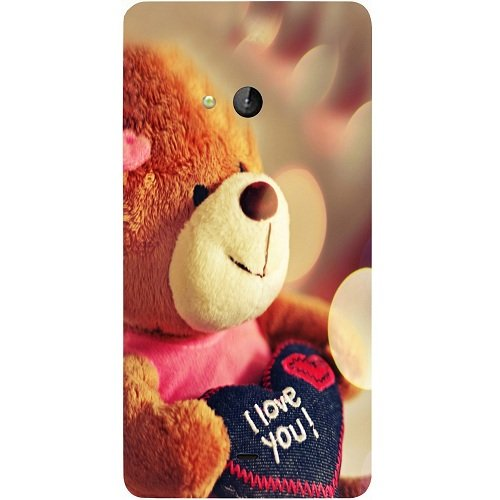 Casotec Teddy Bear Design Hard Back Case Cover for Microsoft Lumia 540