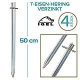 IGEL T-Eisen-Hering 50cm verzinkt 4/12/25/50er Sets … (4 Stück)
