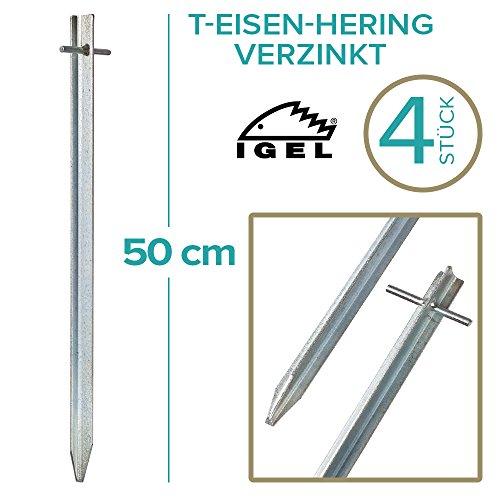 IGEL T-Eisen-Hering 50cm verzinkt 4/12/25/50er Sets ... (4 Stück)