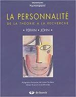 La personnalité - De la théorie à la recherche de Lawrence-A Pervin