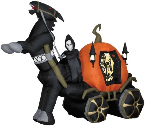 HALLOWEEN INFLATABLE Airblown Reaper Horse and Carriage SS60208G by (Halloween Inflatables Für)