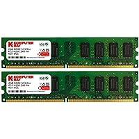 Komputerbay 4GB 2X 2GB DDR2 533MHz PC2-4200 PC2-4300 DDR2 533