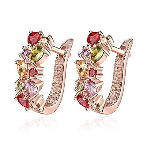 Luxury colorful Zircon earrings by Hen night