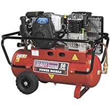Sealey SA5040 Compressor 50ltr Belt Drive Petrol Engine 4hp