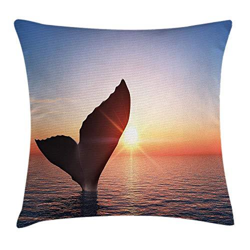 VTXWL Whale Throw Pillow Cushion Cover