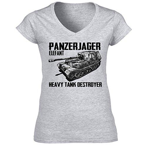 teesquare1st Panzerjager Elefant Camiseta para Mujer de Algodon Size Small