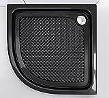 80x80x6 cm Design Duschtasse Faro3BAR in schwarz, mit Anti-Rutsch-Profil, Duschwanne, Acrylwanne