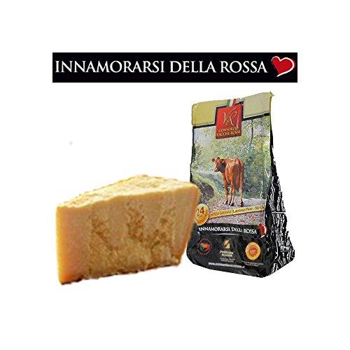 Parmigiano reggiano vacche rosse, stagionato 24/30 mesi, 1 kg - senza lattosio