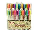 Erofa 36 Packs Color Gel Tinte Stifte, hochwertige Gel-Stifte für Erwachsene Farbe Bücher, Draw, und schreiben, mit 1,0 mm Tip Range (12 glitter + 12 Neon + 12 WaterChalk)