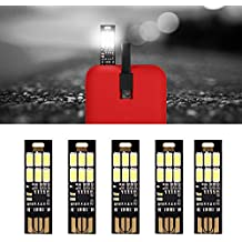 10PCS Karte Lampe Bulb Led Keychain Mini LED Nacht Licht Portable USB Power Weiß