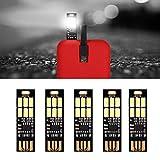 Yizhet 5 pezzi Mini LED Night USB luce,Super Luminoso Ultrasottile la Luce di Notte,Dimmer Tattili a LED Lampada USB per Tastiera Portatile Portachiavi (Bianco Freddo)
