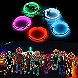 SOLMORE 5x 1m Fünf Farben EL Wire Leuchtschnur EL Kabel Lichtschnur Band Lichtschlauch Leucht Schnüre Neon Draht Light Lampe Beleuchtung Lichtband Lichtleiste Streifen für Halloween Weihnachtsfeiern