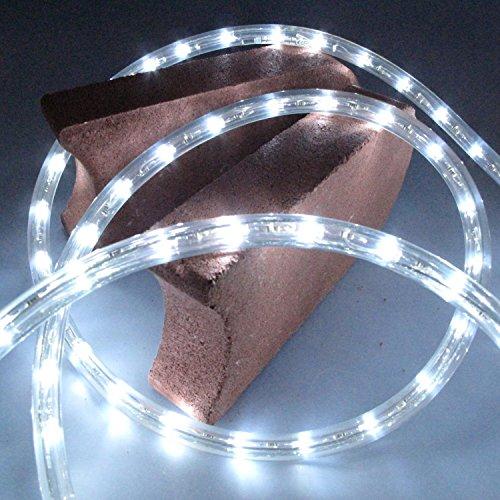 1 Meter LED Lichtschlauch 230 V weisse LED 30 LED je Meter mit Anschlusskabel -