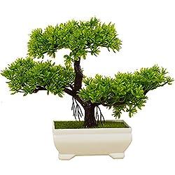Kunstpflanze Pflanze,Japanischer Feng Shui Pinien ,Feng Shui Lucky Deko,Kunstbaum ,Höhe ca. 20 cm ,GrüN , #4