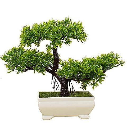 Kunstpflanze Pflanze,Japanischer Feng Shui Pinien ,Feng Shui Lucky Deko,Kunstbaum ,Höhe ca. 20 cm ,GrüN , #43