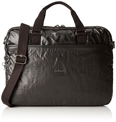 Kipling - KAITLYN - Computer Tasche - Metallic Blck - ( Schwarz) (Laptop-aktentasche Leder-wheeled)