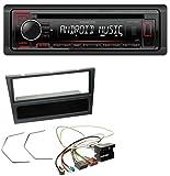 caraudio24 Kenwood KDC-120UR MP3 CD 1DIN Aux USB Autoradio für Opel Agila Combo Corsa C Omega B Vivaro ab 2005 Schwarz