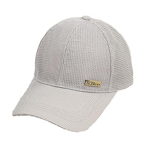 Damen Strandhut Sonnenhut Reversible Cap Tennis Kappe mit UV Schutz Grau (Reversible Sonnenhut)