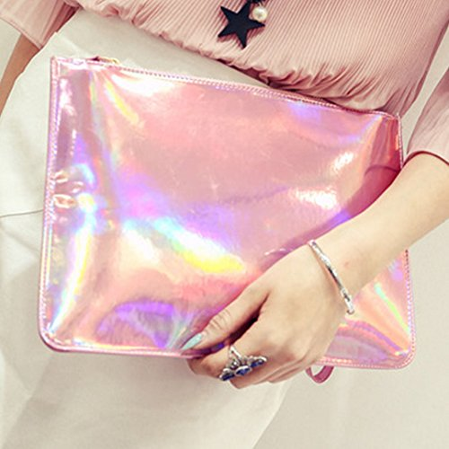 ashdown, Poschette giorno donna Silver white Fashion Pink