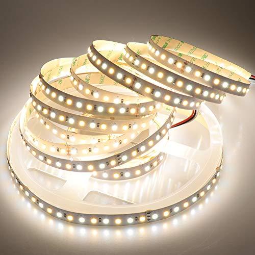 LTRGBW Super Helle 5 Mt 2835 SMD 24 V 600 leds Zweifarbige Warmweiß Kalt Farbtemperatur Einstellbare Flexible Led-streifen Licht für Home Küche nicht wasserdicht