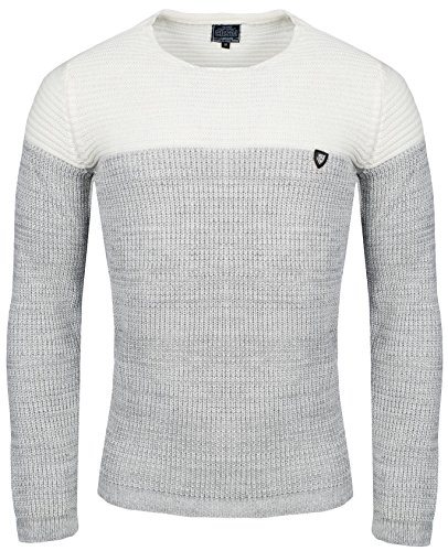 Carisma Herren - Strickpullover 7288 Streetwear Menswear Autumn/Winter Knit Knitwear Sweater CRSM CARISMA Fashion- Gr. L, Ecru