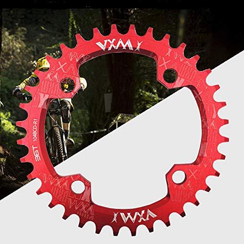 DISCXUAN Fahrrad rundes Oval Chainring32T 34T 36T 38T Fahrrad rundes/ovales Kettenblatt 104BCD Kettenblatt Schmales breites Kettenblatt für Rennrad, Mountainbike, BMX MTB-Fahrrad Fahrradrotorzubehör