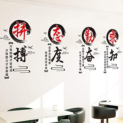 Junior High School Slogan Wandaufkleber Aufkleber Klassenzimmer Layout Klasse Kultur Hintergrund Wand Kreative Selbstklebende Dekorative Tinte Text Motivation Aufkleber ()