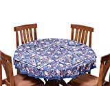 Chhipaprints Round Table Cover Warm Blue...