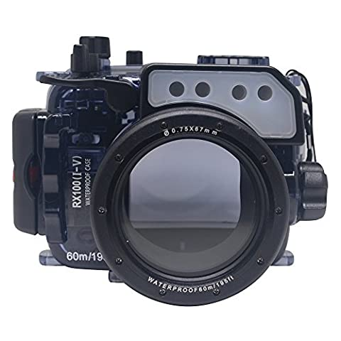 Mcoplus 40m/130ft Waterproof Underwater Camera Housing Case for Sony RX100 RX100II RX100III RX100IV RX100V Can Be Used With 24-105mm Lens + Accurate Alarm Buzzer Equipment