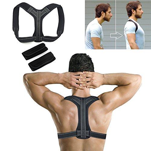 Lyeiaa Geradehalter zur Haltungskorrektur, Rückenbandage Rückenstütze Rücken Geradehalter Schulter Posture Corrector Haltungstrainer für Damen Herren, Verstellbar & Atmungsaktiv, XL (95-105cm)