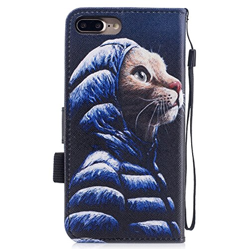 Per iphone 7 Plus / iphone 8 Plus Cover , Per iphone 7 Plus / iphone 8 Plus Custodia , Custodia Book Style Design Portafoglio per iphone 7 Plus / iphone 8 Plus, COZY HUT® Custodia per iphone 7 Plus /  Giacca giù gatto