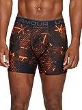 Under Armour Herren O-Series 6in Boxerjock 2pk Novelty Unterhose, Magma Orange/Steel Light Heather (892), LG