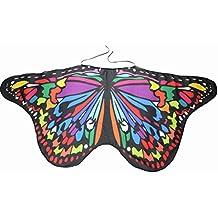 Schmetterling Kostüm, Dasongff Kind Kinder Jungen Mädchen Böhmischen Schmetterling Print Schal Karneval Kostüm Faschingskostüme Cosplay Kostüm Zusatz