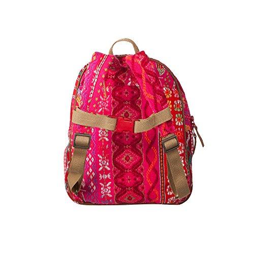 Room Seven BV Rucksack, Borsa a zainetto donna Multicolore (Mehrfarbig (Pink))