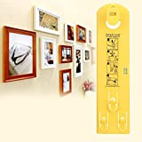 Picture Hanging Tool for Marking Position,Ensuring Picture Straight with Built in Vertical and Horizontal Levels,Simple&Fast for Hanging Groupings and Galleries