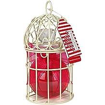 Winter in Venice - Mini cage à oiseaux en lin français - Articles de toiletries de luxe infusées aux fruits naturels et extraits de plantes emballés dans une cage d'oiseau miniature réutilisable. Gagner et Prix Meilleures ventes Ensemble de cadeaux de bain primé