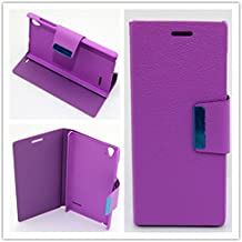 Misemiya ® Funda Orange Rono / ZTE Blade Vec 4G Libro Cuero Agenda Soporte Violeta