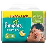 PAMPERS BABY DRY GR.3 4-9kg JUMBO+ 90ER