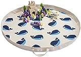 3Sprouts Kofferraumwanne, jeu-sac Stauraum für Spielzeug Wal