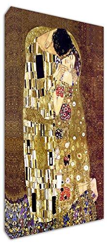 Punto Digital Klimt Il Bacio Quadro Moderno cm.120x60 già Intelaiato,Stampa su Tela in Cotone,Telaio in Legno Spessore cm.2