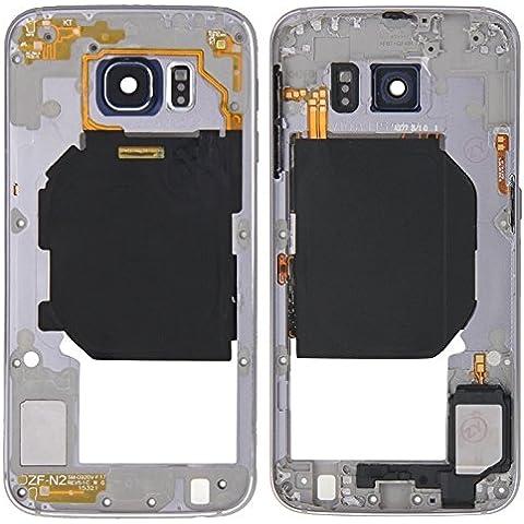 Ricambio per i cellulari di ricambio, iPartsBuy obiettivo posteriore del piatto custodia per Pannello con tasti laterali e l'altoparlante Ringer Buzzer per Samsung Galaxy S6 / G920 ( Colore : Grigio )