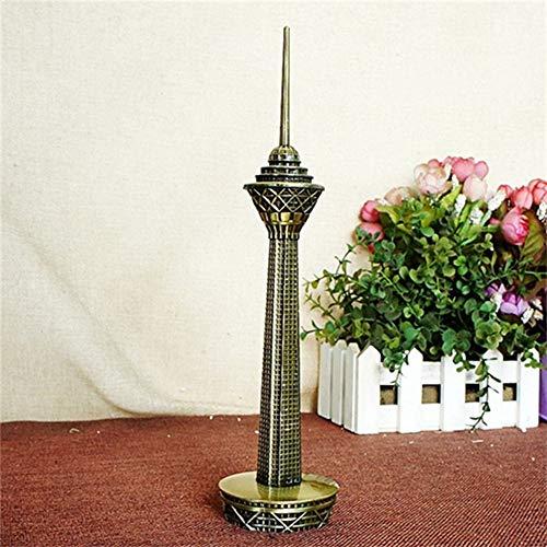 CUIAIDING Statue 10 Zoll Gebäude Statue Metall Handwerk Dekoration Iran Moldawien Eisen Handwerk Architekturmodelle Tischdekoration Zubehör, Bronze