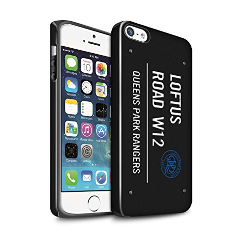 Offiziell Queens Park Rangers FC Hülle / Glanz Harten Stoßfest Case für Apple iPhone SE / Pack 8pcs Muster / QPR Loftus Road Zeichen Kollektion Schwarz/Weiß