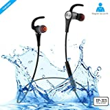 #6: ZAAP® (USA) AQUA MAGNETO Bluetooth Waterproof Headphone/Headsets + Free Carry Case {Award-winning Tech.}, IP-X5 Wireless 4.1 Bluetooth Technology, Magnetic Earbuds, Universal Compatibility Secure Fit for Sports, Gym, Running & Outdoor with Built-in Microphone [Black]