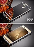D-kandy Luxury Metal Bumper + Acrylic Mirror Back Cover Case For For HUAWEI P9 - BLACK